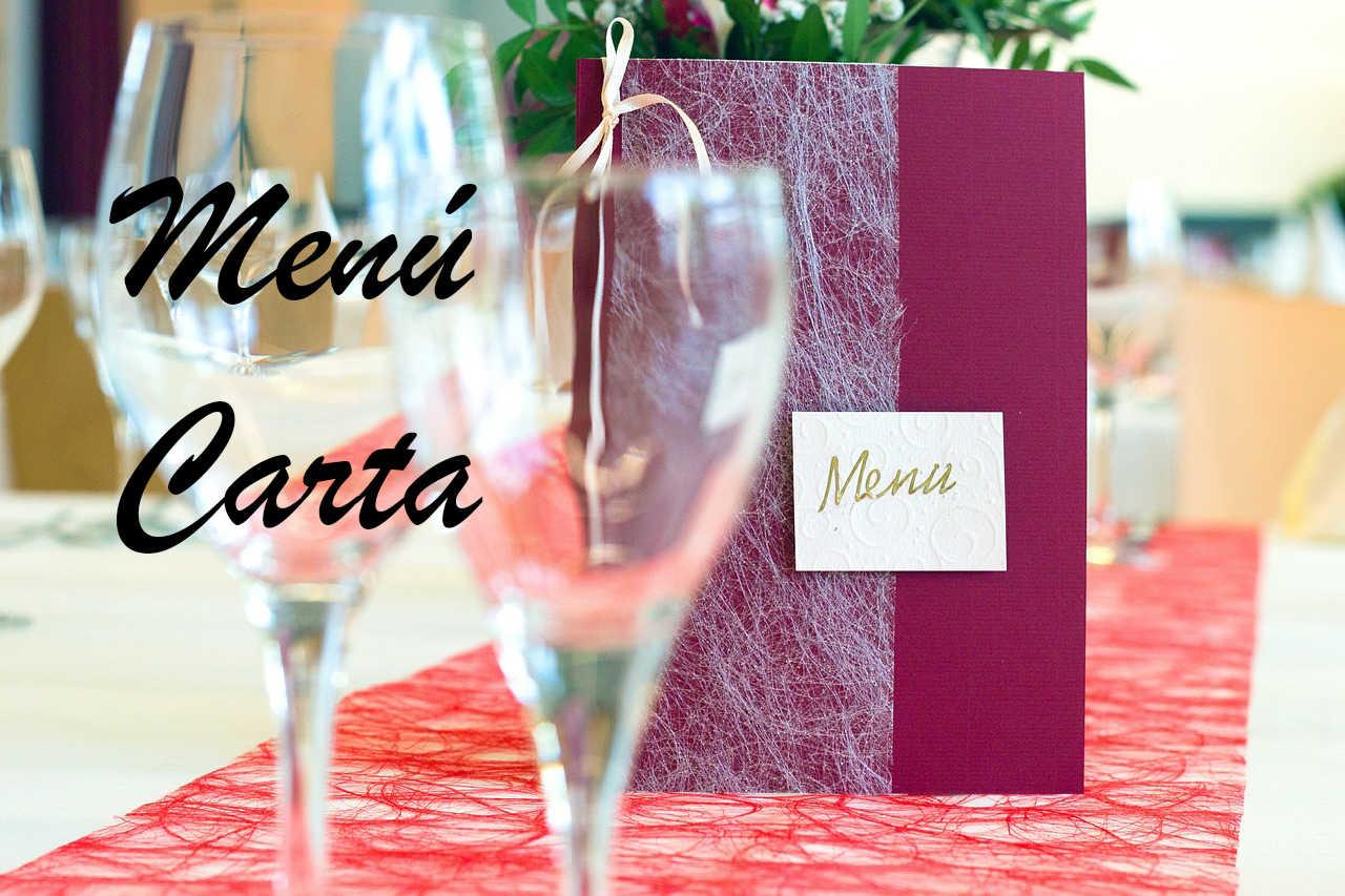 menu y carta